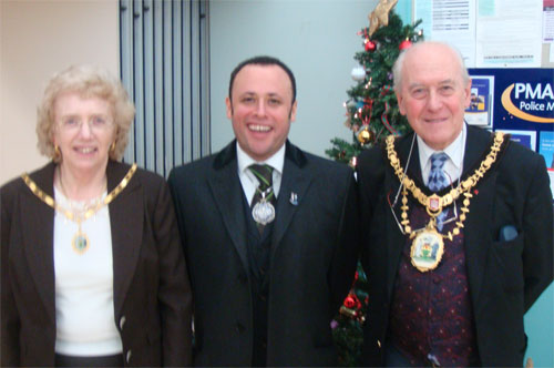 Mayor and Mayoress of Harrow with the Deputy Mayor of Lambeth