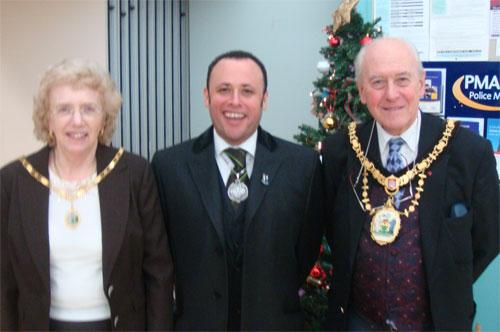 Mayor and Mayoress of Harrow with the Deputy Mayor of Lambeth