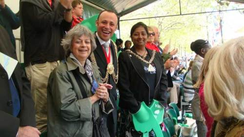 Mayor of Lambeth with the Mayor of Southwark and the Mayors Consort Anne Sassoon