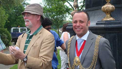 Mayor of Lambeth being introduced at the Friends of Brockwell Park Annual Tree Celebration