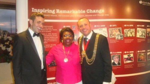 Mayor and Mayoress of Lambeth with one of the StareheFuture team