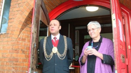 Mayor of Lambeth with Naine Woodrow for Clapham Potters