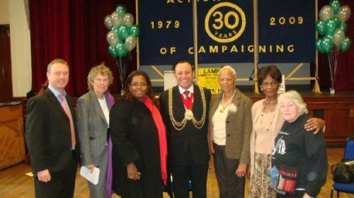 Mayor of Lambeth at LAMPAG's 30th Anniversary