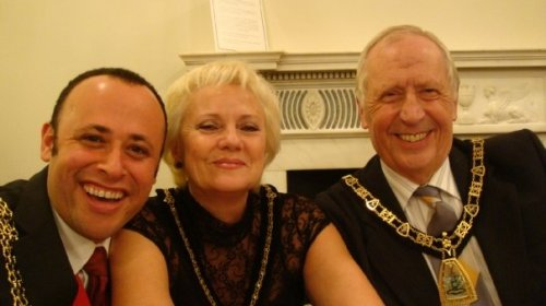 Mayor of Lambeth with the Mayor and Mayoress of Bromley