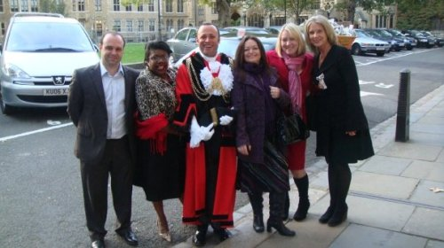 Mayor of Lambeth with friends who attended the service