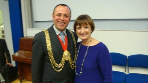 Mayor of Lambeth with the Rt Hon Tessa Jowell MP