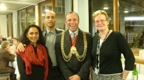 Mayor of Lambeth at Goldsmiths following the lecture by Rt Hon Tessa Jowell MP