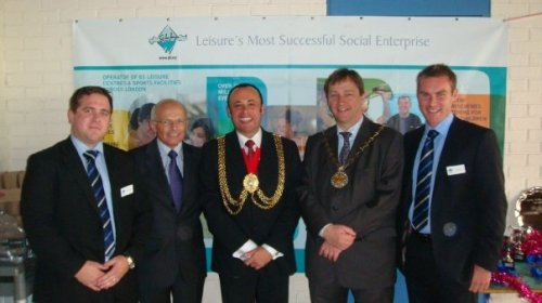 Mayor of Lambeth with the Mayor of Greenwich who was also visiting the games