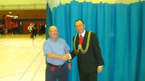 Mayor of Lambeth with one of the entrants to the Wellness Games